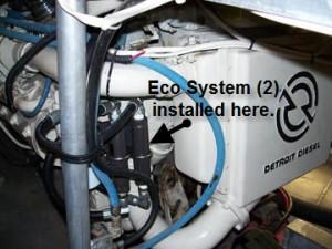 DieselMaxx installed on twin Detroit Diesel Engines